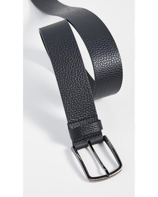 BOSS Black Sander Grainy Leather Belt for men