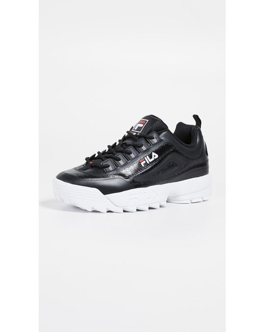 Fila Black Disruptor Ii No-sew Sneakers for men