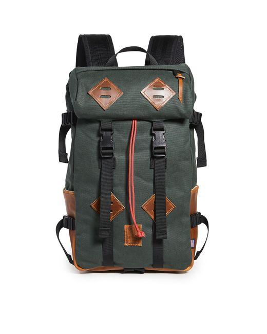 Topo Green Klettersack Heritage Canvas Backpack for men