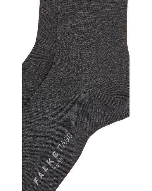 Falke Gray Tiago Cotton Socks for men