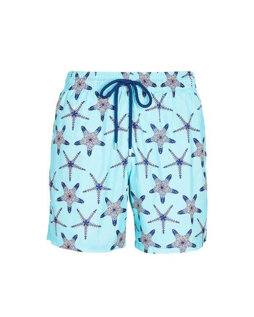 Vilebrequin Blue Starfish Print Swim Shorts for men