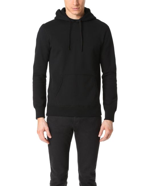Reigning Champ Midweight Twill Terry Zip Hoodie in Black