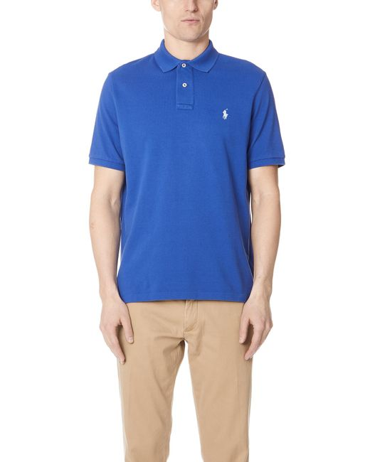Polo Ralph Lauren - Blue Weathered Polo Shirt for Men - Lyst