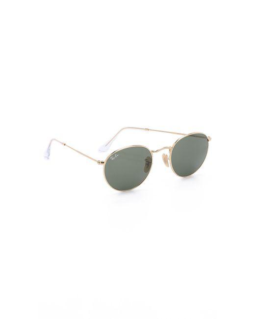 Ray-Ban - Metallic Round Metal Sunglasses for Men - Lyst