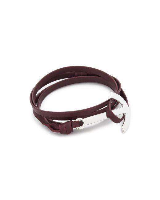 Miansai | Multicolor Modern Anchor Leather Wrap Bracelet for Men | Lyst