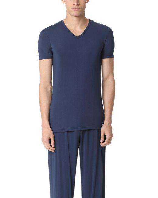 CALVIN KLEIN 205W39NYC - Blue Short Sleeve V Neck T-shirt for Men - Lyst