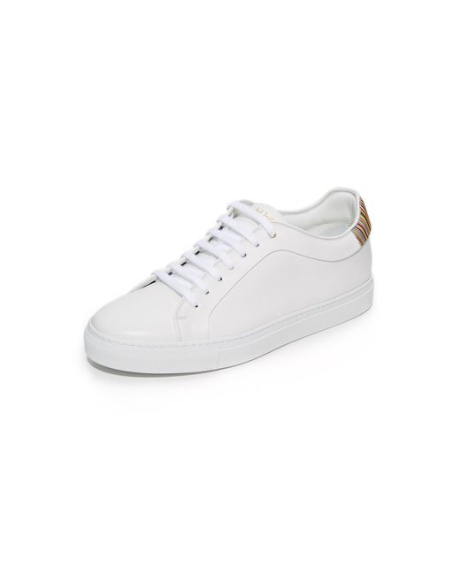 Paul Smith | White Basso Leather Sneakers for Men | Lyst