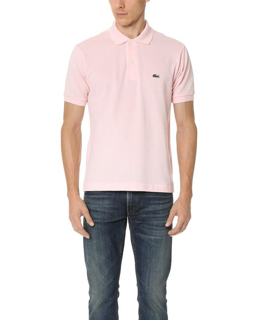 Lacoste - Pink Short Sleeve Classic Pique Polo for Men - Lyst