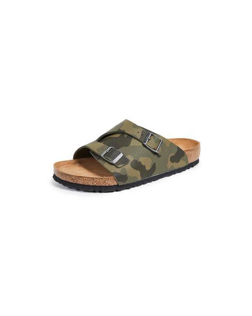 Birkenstock Green Zurich Soft Footbed Sandals for men