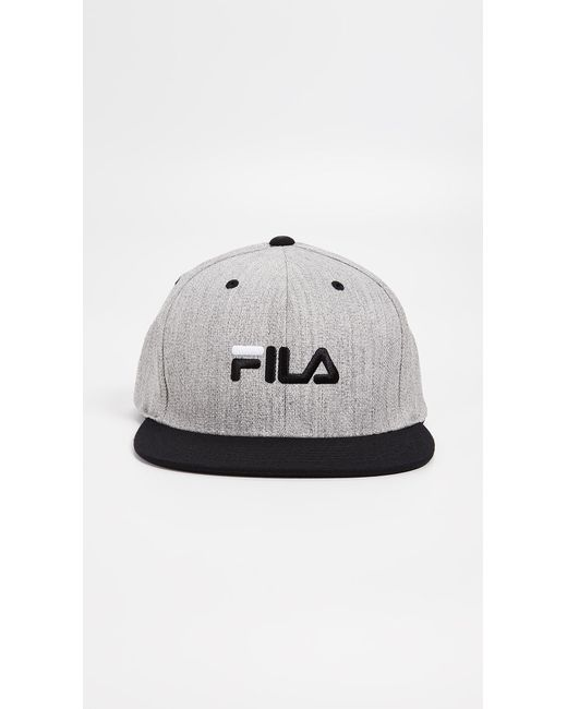 fd5b8e14428 Fila - Gray Flexfit Snapback Hat for Men - Lyst ...