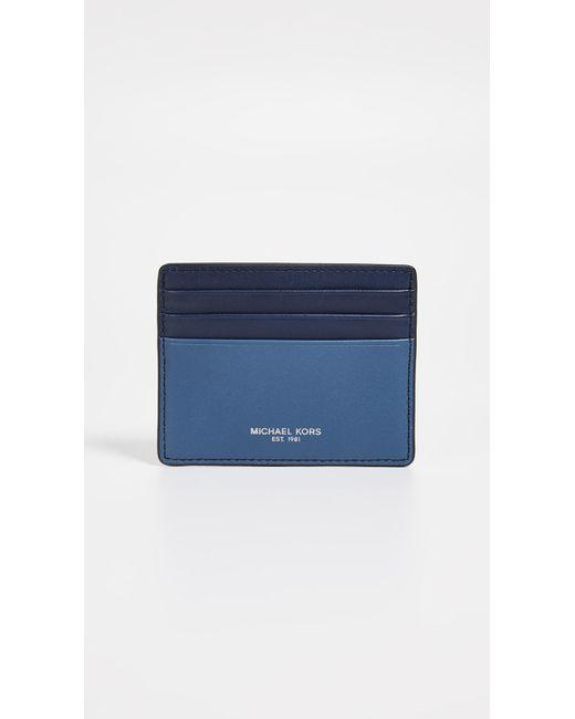 650623c9544e Michael Kors - Blue Henry Tall Card Case for Men - Lyst ...