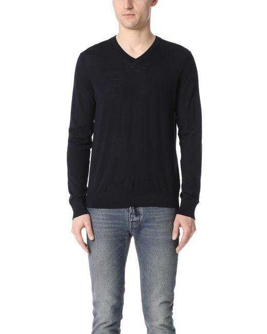 Theory | Black Sovereign Riland V Neck Sweater for Men | Lyst