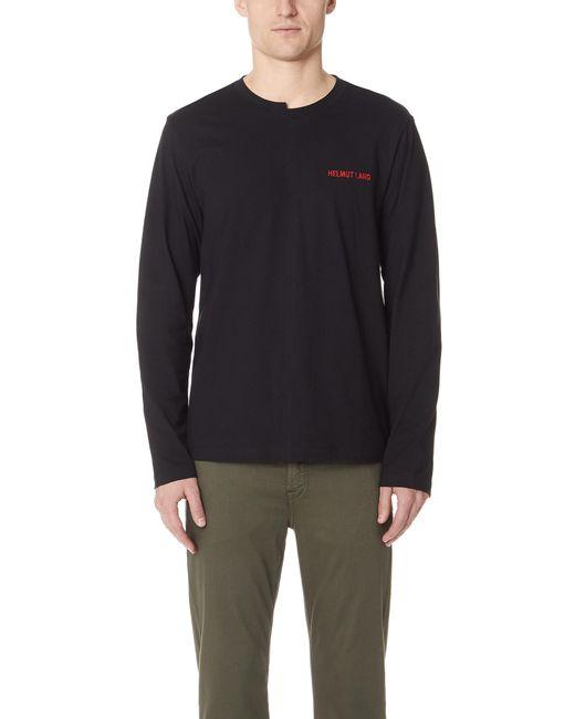 Helmut Lang - Black Long Sleeve Tee Shirt for Men - Lyst