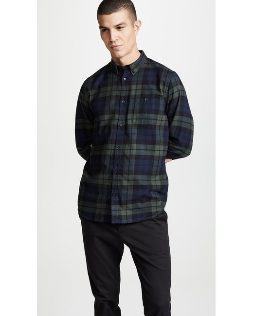 2a7465ac51 Norse Projects - Multicolor Villads Check Brushed Flannel Shirt for Men -  Lyst ...