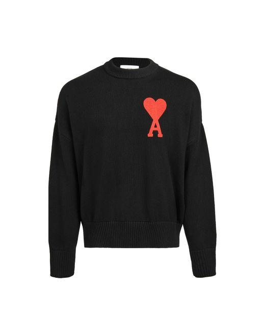 AMI Black De Coeur Sweater for men
