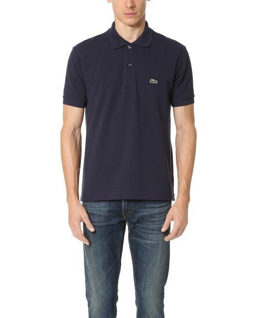 Lacoste - Blue Short Sleeve Classic Pique Polo for Men - Lyst