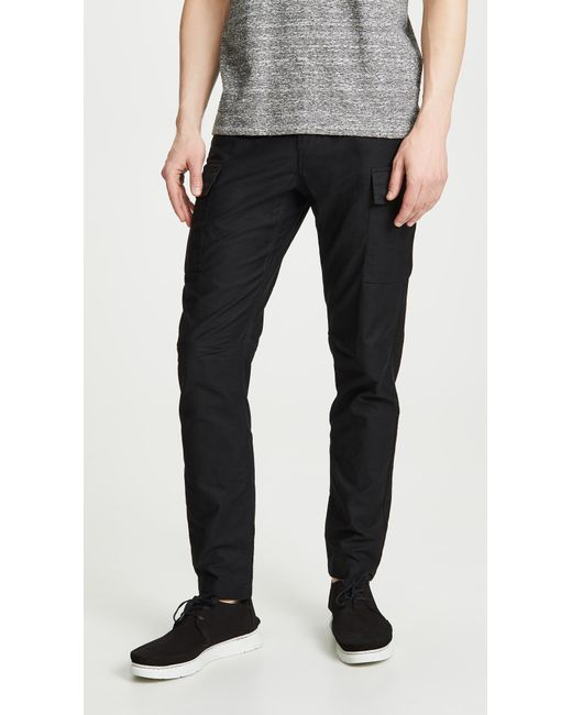 Wings + Horns Black Utility Cotton Pants for men