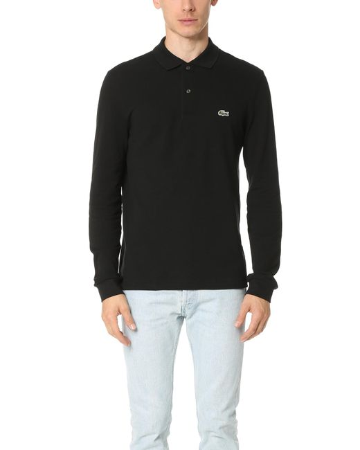 Lacoste - Black Long Sleeve Classic Polo Shirt for Men - Lyst