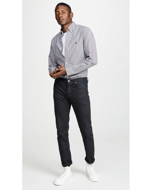 f73b34e43 Polo Ralph Lauren - Multicolor Slim Stretch Poplin Shirt for Men - Lyst ...