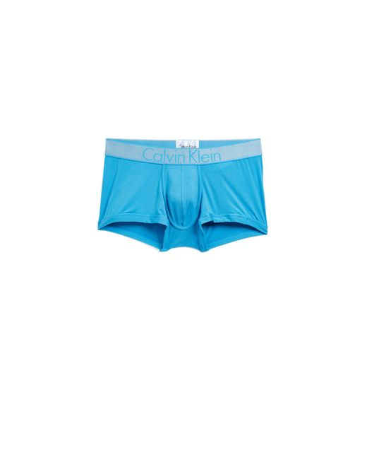CALVIN KLEIN 205W39NYC - Blue Customized Stretch Low Rise Trunks for Men - Lyst