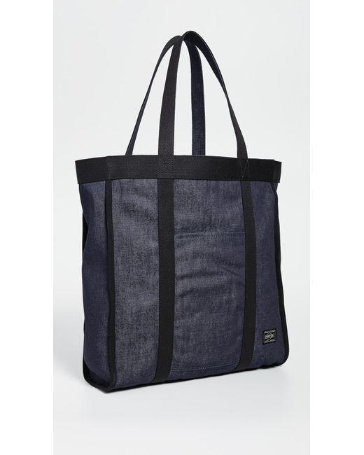 Porter Black X Orgabits Reversible Denim Tote Bag for men