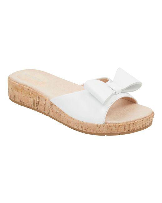 Easy Spirit Natural Mimosa Bow Cork Sandals