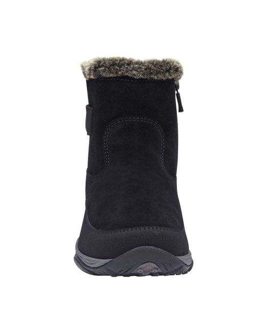 f747ad68d72c3 ... Easy Spirit - Black Excel Cold Weather Booties - Lyst ...