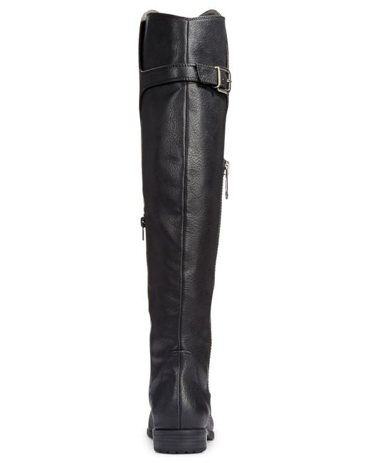 Rialto | Black First Row Casual Over The Knee Wide Calf Boots | Lyst