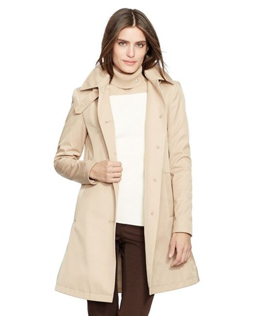 Lauren by Ralph Lauren | Natural A-line Raincoat | Lyst