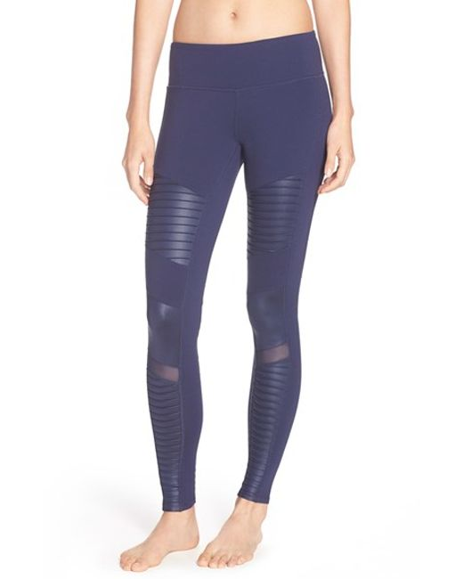 Alo Yoga | Blue Moto Leggings | Lyst