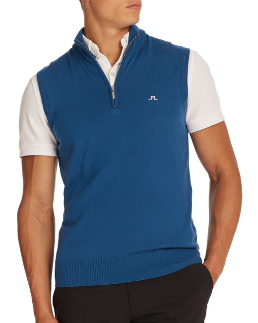 J.Lindeberg | Blue Edi Tour Merino Sweater Vest for Men | Lyst