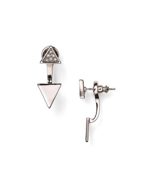 Rebecca Minkoff | Metallic Triangle Ear Jackets | Lyst