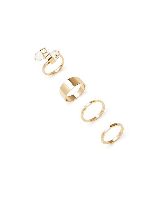 Forever 21 | Metallic Faux Gemstone Ring Set | Lyst