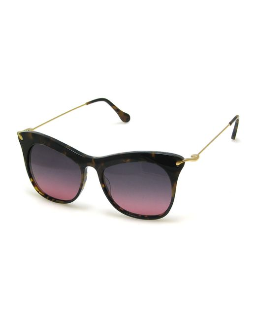 Elizabeth and James | Metallic Fairfax Cat-eye Sunglasses | Lyst