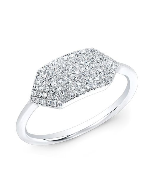 Anne Sisteron | Metallic 14kt White Gold Diamond Buckle Ring | Lyst
