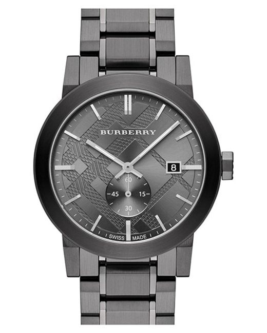 Burberry | Metallic Check Stamped Bracelet Watch for Men | Lyst