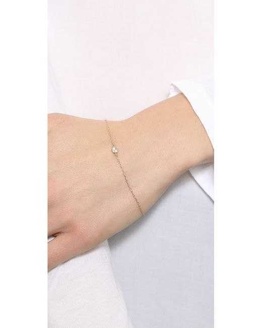 Shashi | Pink Solitaire Bracelet | Lyst