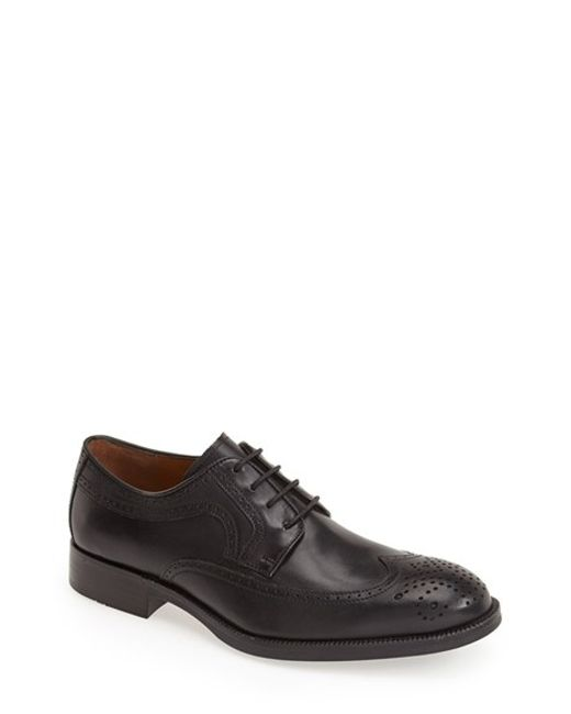 Johnston & Murphy | Black 'beckwith' Wingtip for Men | Lyst