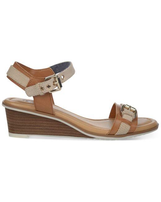 Dr. Scholls | Brown Glendale Wedge Sandals | Lyst