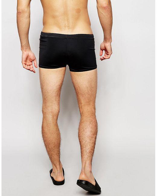 calvin klein logo tape trunks in black for men save 53. Black Bedroom Furniture Sets. Home Design Ideas