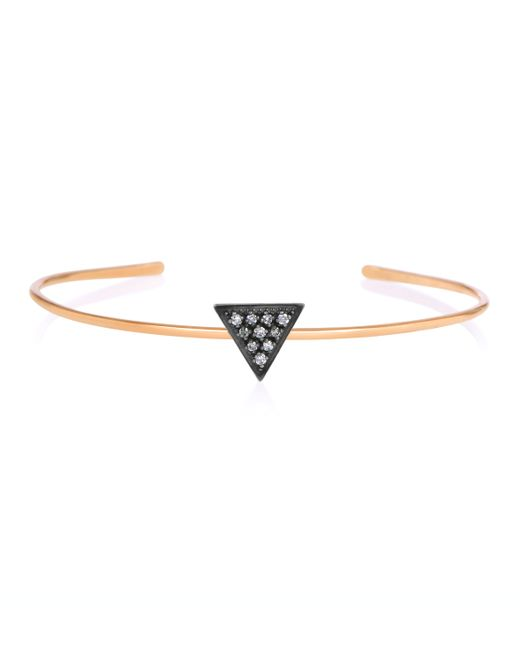 Zoe Chicco | Metallic 14k Rose Gold Triangle Bangle | Lyst