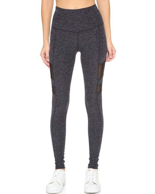 Beyond Yoga | Space Dye High Waisted Leggings - Black/steel | Lyst