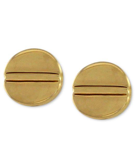 Vince Camuto | Metallic Gold-tone Basic Stud Earrings | Lyst