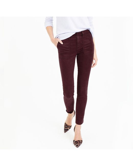 J.Crew | Purple Skinny Stretch Cargo | Lyst