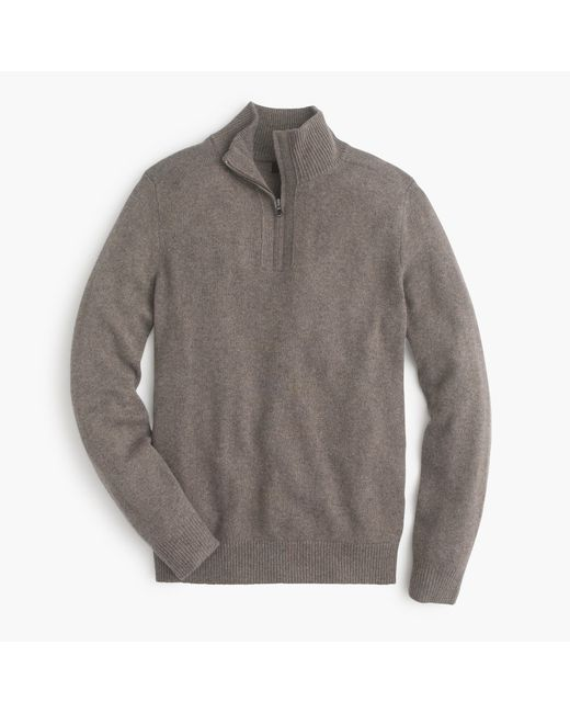 J.Crew   Gray Softspun Half-zip Sweater for Men   Lyst