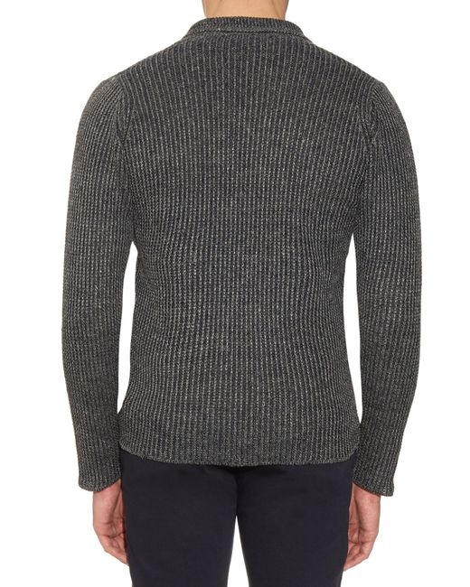Inis meáin Donegal Ribbed-knit Linen Sweater in Gray for ...