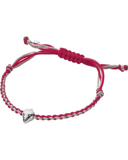 Links of London | Red Wimbledon Strawberry Cord Bracelet | Lyst