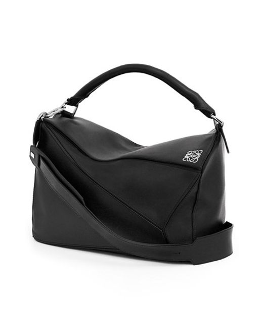 Loewe | Black Puzzle Large Leather Bag | Lyst