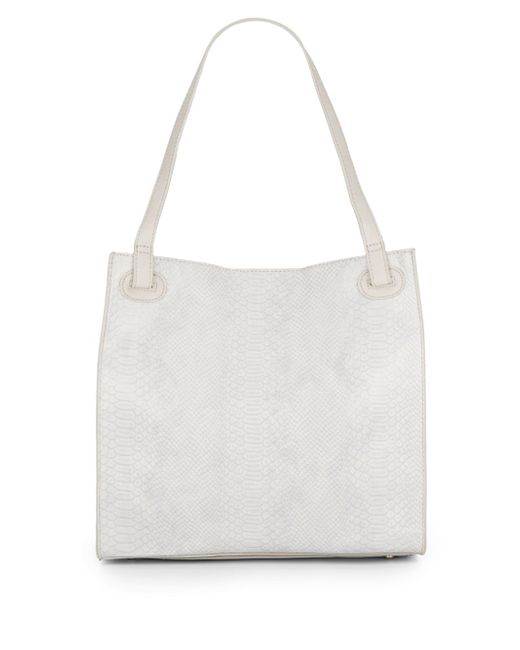 Urban Originals | Natural Python Embossed Faux Leather Tote Bag | Lyst