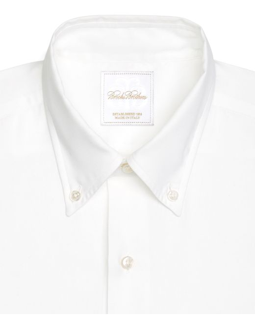 Brooks brothers regent pinpoint solid non iron classic fit for Pinpoint button down dress shirt